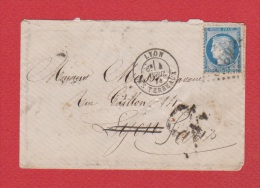 Enveloppe  / De Lyon / Pour Paris / 4 Avril 1874 - 1849-1876: Klassik