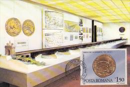 37344- DROBETA TURNU SEVERIN ARCHAEOLOGY MUSEUM, EXHIBITION HALL, MAXIMUM CARD, 1990, ROMANIA - Arqueología