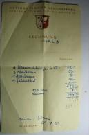 Gasthof Pension Schlossberg Seefeld Tirol 1200m Austria - Rechnung - 21 Juillet 1953 - Autriche