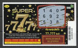 "Romania, Scratch-card,  ""Super Sevens"",Black, 2016. - Billets De Loterie"