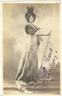 Cpa MARTHE CHENAL Avec Signature Autographe De Juillet 1913 - Opera