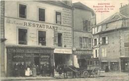 ESSONES - Restaurant Beavallet Et Entrée De La Rue D'angoulème.(carte Vendue En L'état, Menu Au Dos) - Essonnes
