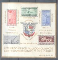 PANAMA BLOC YVERT NR. 1 AÑO 1938 - IV JUEGOS DEPORTIVOS CENTROAMERICANOS Y DEL CARIBE - Panama