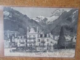 HOTEL RICHELIEU TERRITET. DOS 1900  Coin Manque - Switzerland