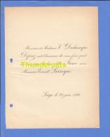 FAIRE PART MARIAGE 1894 DECHAMPS DEPREZ JANE ERNEST LARROQUE LIEGE - Mariage