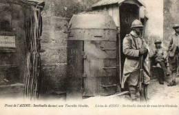 WW1  - LEGENDE EN PORTUGAIS -  FRONT DE L´AISNE  SENTINELLE TOURELLE BLINDEE - Guerra 1914-18