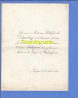 FAIRE PART MARIAGE 1898 BELLEFROID DETOMBAY CHARLES MARGUERITE RASSENFOSSE LIEGE - Mariage