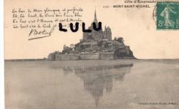 DEPT 50 :  Le Mont Saint Michel , Vue Générale ,(  Mot De Botrel ) - Le Mont Saint Michel