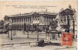 Cpa  PARIS  PLACE DE LA CONCORDE STATUE DE STRASBOURG - Squares