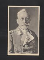 Autogramm Wilhelm II Auf Postkarte - Autogramme & Autographen