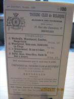 ITINERAIRE TCB N°100 A: WESTMALLE, WUESTWEZEL, ESSCHEN, HOOGERHEIDE B: WUESTWEZEL, STABROECK, KIELDRECHT, LA CLINGE C: ' - Cartes