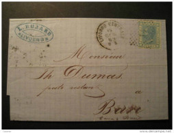 ITALY Livorno 1869 To Bari Pistoia Cancel Folded Letter Italia Italie - 1861-78 Victor Emmanuel II.