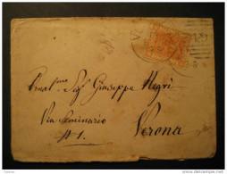 ITALY Venezia 1878 To Verona Cover Italia Italie - 1861-78 Victor Emmanuel II.