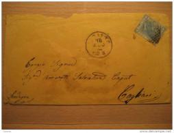 1874 Livorno Cagliari Sardegna Cerdeña 1 Sello Stamp 20c Sobre Cover Enveloppe Italy Italia - 1861-78 Victor Emmanuel II.