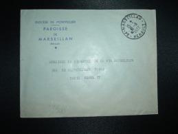 LETTRE OBL.19-8-1972 MARSEILLAN (34 HERAULT) DIOCESE DE MONTPELLIER PAROISSE - Marcophilie (Lettres)