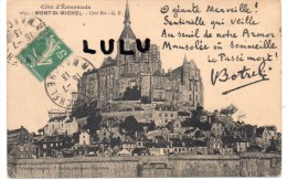 DEPT 50 :  Le Mont Saint Michel , Coté Est ( Mot De Botrel - Le Mont Saint Michel