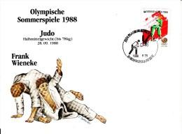 Korea, South Cover Scott #B37 Judo Medal Winner Frank Wieneke - Summer Olympics 1988 Seoul - Ete 1988: Séoul