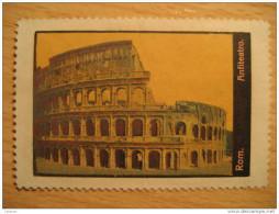Roma COLOSSEO Anfiteatro Teatro Theater Theatre Archeology Vignette Poster Stamp - Italia