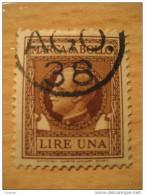 Una Lire Marca Da Bollo Fiscal Stamp - Etats-Unis