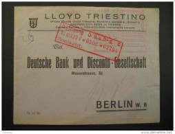 TRIESTE 1937 Metter Mail Cover To Berlin - Trieste