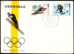 Poland Warsaw 1968 / Olympic Games Grenoble / Ski Jumping Alpine Skiing - Winter 1968: Grenoble