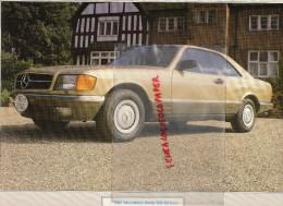 PHOTOGRAPHIE MERCEDES BENZ 500 SEC -1982  AVEC DESCRIPTIF AU VERSO - Voitures