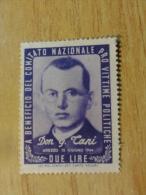 Sindicato Nazionale Victime Politiche WW2 DON G CANI 1944 Vignette Poster Stamp Italia Italy Italie - 5. 1944-46 Lieutenance & Umberto II