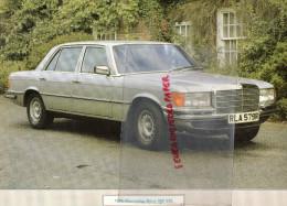 PHOTOGRAPHIE MERCEDES BENZ 450 SEC 1976-   AVEC DESCRIPTIF AU VERSO - Cars