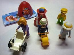Lot De PLAYMOBIL   Divers  Personnages  CHARETTE ET POUSSETTE  ( Voir  2 PhotoS ) - Playmobil