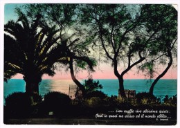 O1506 Versi Di Giacomo Leopardi - Tramonto Sunset Coucher / Viaggiata 1961 - Scrittori