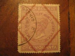 Marca Da Bollo Vittorio Emanuele II Revenue Fiscal Tax Postage Due Official ITALY Italia - Steuermarken