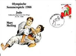 Korea, South Cover Scott #B37 Judo Medal Winner Marc Meiling - Summer Olympics 1988 Seoul - Ete 1988: Séoul