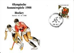 Korea, South Cover Scott #B38 Field Hockey Medal Winner Men's Team - Summer Olympics 1988 Seoul - Ete 1988: Séoul