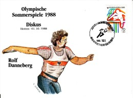 Korea, South Cover Scott #B21 Track And Field Medal Winner Rolf Danneberg - Summer Olympics 1988 Seoul - Ete 1988: Séoul
