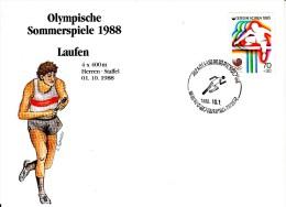 Korea, South Cover Scott #B21 Track And Field Medal Winner Men's 4 X 400m Relay - Summer Olympics 1988 Seoul - Ete 1988: Séoul