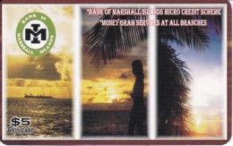 TARJETA DE ISLAS MARSHALL DEL BANK OF MARSHALL ISLANDS - Marshall Islands
