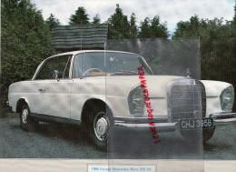 PHOTOGRAPHIE MERCEDES BENZ  COUPE 220 SE-1964 AVEC DESCRIPTIF AU VERSO - Cars