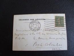 COURRIER DU Député Du VAR  ABEL à MonsIeur BOURGUIGNON Bois-Colombe Futur Habitant De LA FARLEDE    Chambre Des Députés - Autographs