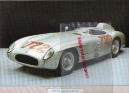 PHOTOGRAPHIE MERCEDES BENZ  300 SLR - 1955 - AVEC DESCRIPTIF AU VERSO - Cars