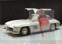 PHOTOGRAPHIE MERCEDES BENZ  300 SL - 1955 - AVEC DESCRIPTIF AU VERSO - Cars