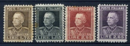 #16-01-00568 - Italy From 1920 To 1943 - 1927 - Sass. 214-217 - MH - QUALITY:40% - Stain - Vitt.Emanuele III - 1900-44 Vittorio Emanuele III