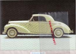 PHOTOGRAPHIE MERCEDES BENZ  220- 1954 - AVEC DESCRIPTIF AU VERSO - Cars
