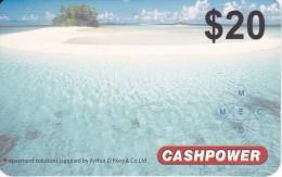 TARJETA DE ISLAS MARSHALL DE $20 DE PAISAJE CON PLAYA (CASHPOWER) - Marshall Islands