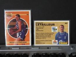 Carte  Basketball, 1994 équipe - Gravelines Sollac - Bernard LETAILLEUR - N° 42 - 2scan - Apparel, Souvenirs & Other