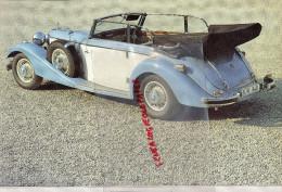 PHOTOGRAPHIE MERCEDES BENZ  540 K - 1936 - AVEC DESCRIPTIF AU VERSO - Voitures