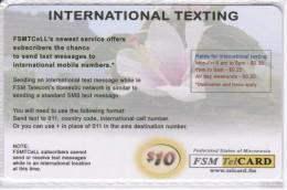 TARJETA DE MICRONESIA DE INTERNATIONAL TEXTING DE $10 DE UNA FLOR-FLOWER (FSM TELCARD) NUEVA-MINT - Micronesia