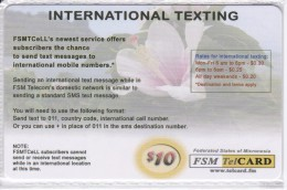 TARJETA DE MICRONESIA DE INTERNATIONAL TEXTING DE $10 DE UNA FLOR-FLOWER (FSM TELCARD) NUEVA-MINT - Micronésie
