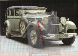 PHOTOGRAPHIE MERCEDES BENZ  GROSSER  1932 - AVEC DESCRIPTIF AU VERSO - Cars
