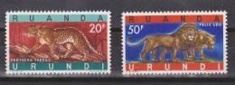Ruanda Urundi / Rwanda Urundi 1961 Mi. 180-181** MNH - Tiere - Animals - Ruanda-Urundi