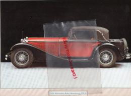 PHOTOGRAPHIE MERCEDES BENZ  MANNHEIM 370 S - 1931 - AVEC DESCRIPTIF AU VERSO - Voitures
